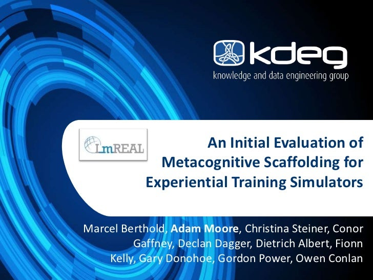 An Initial Evaluation of Metacognitive Scaffolding for Experiential Training Simulators
