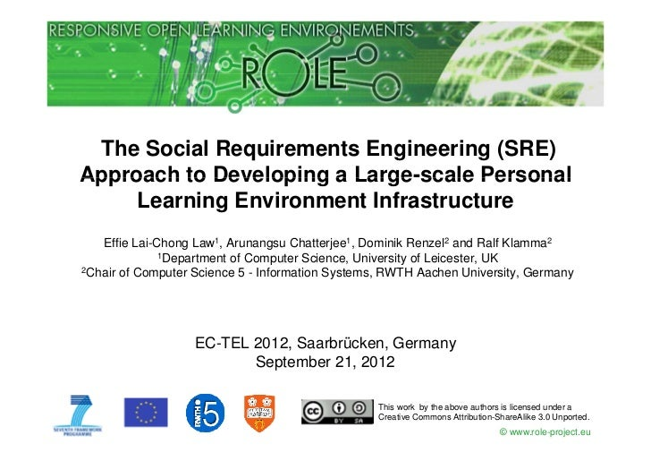 The Social Requirements Engineering (SRE)Approach to Developing a Large scale Personal                         Large-scale...
