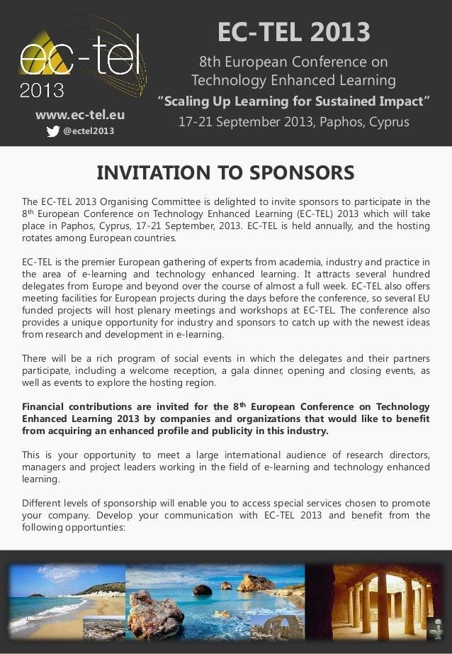 EC-TEL 2013                                       8th European Conference on                                      Technolo...