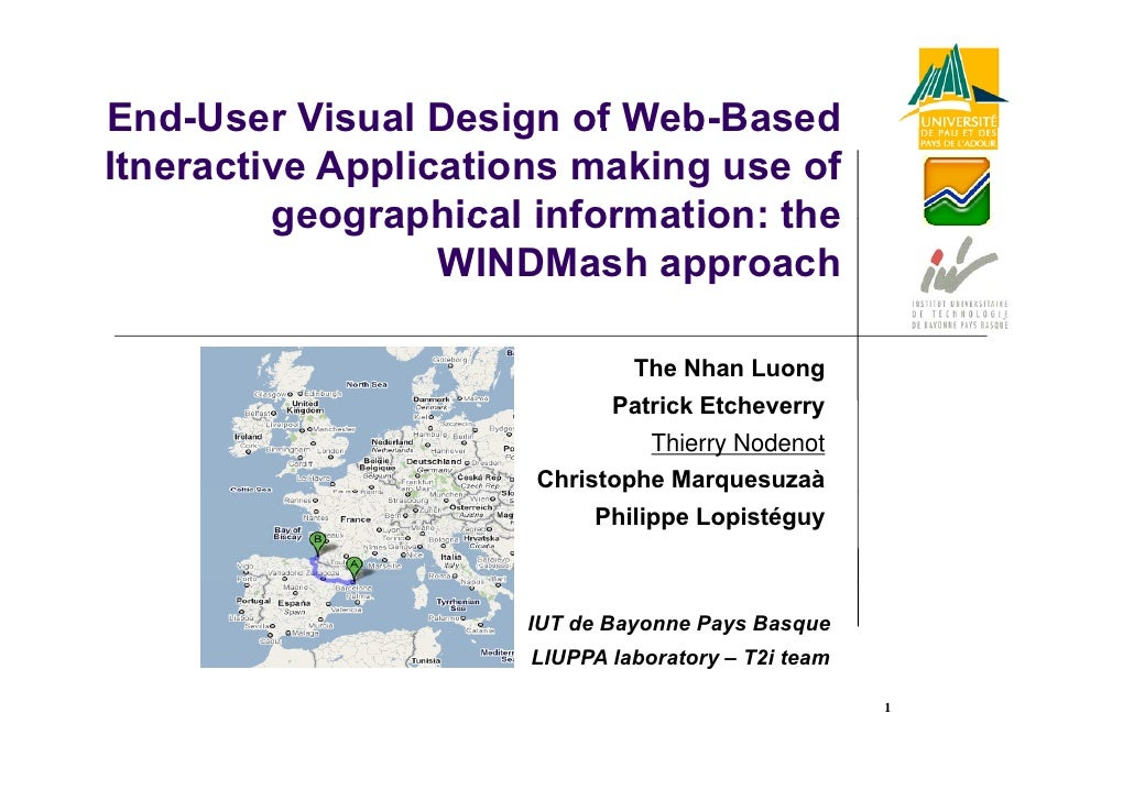 End User End-User Visual Design of Web-Based                            Web Based Itneractive Applications making use of  ...