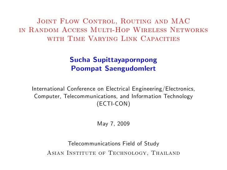 Sucha's Presentation at ECTI-CON 09