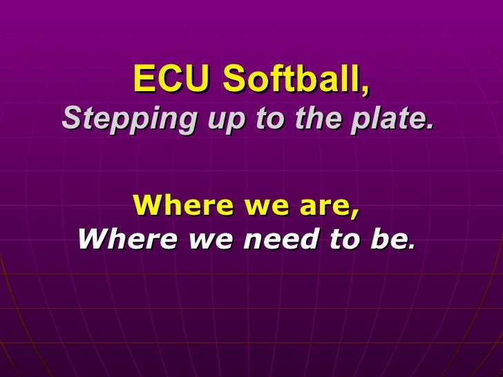 ECU Softball Facilities