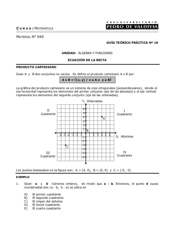 C U R S O : MATEMÁTICAMATERIAL N° 045                                                                      GUÍA TEÓRICO PR...