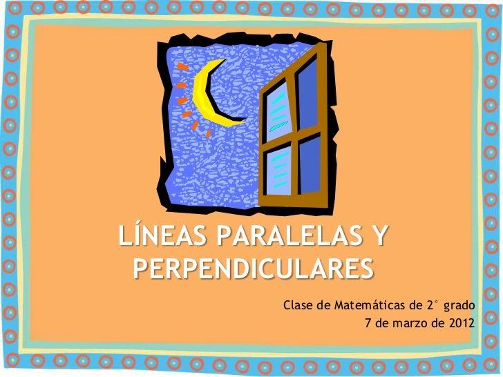 Ecuaciones de las líneas paralelas y perpendiculares
