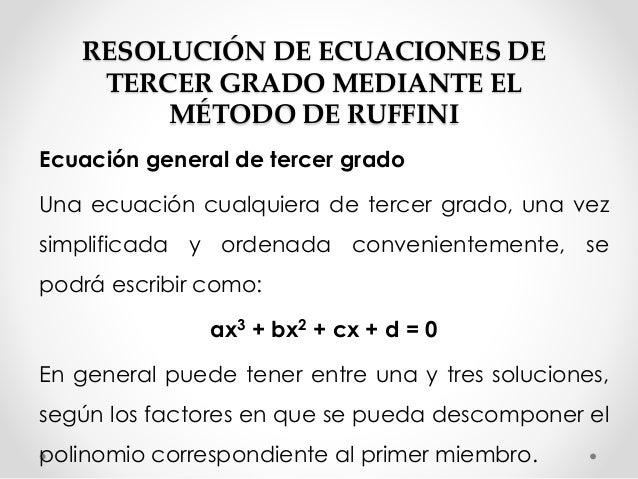 Ecuaciones de tercer grado for Ecuaciones de cuarto grado
