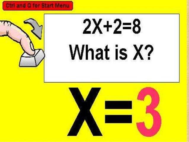 Resolución de ecuaciones en el conjunto N: una ecuación, es una igualdad que sólo es verdadera para determinados valores d...