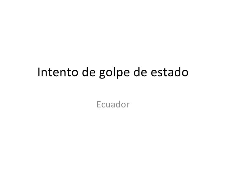 Intento de golpe de estado Ecuador