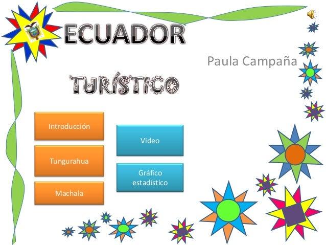 Paula Campaña Introducción Tungurahua Machala Video Gráfico estadístico