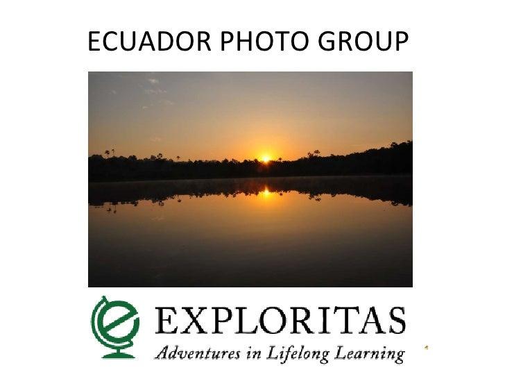 Ecuador Photo Group Jan 2010