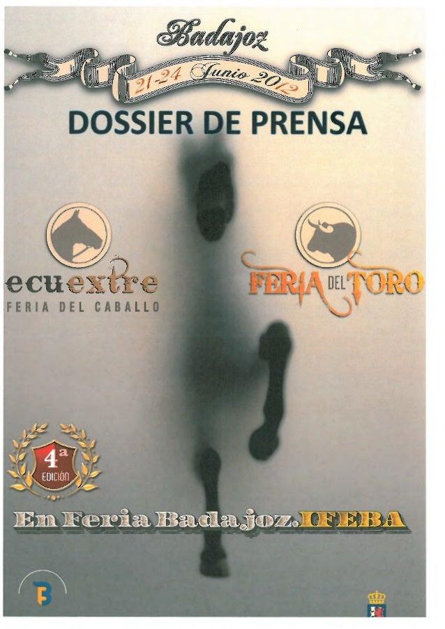 DOSSIE EPRENSAFERIA DEL CABALLO