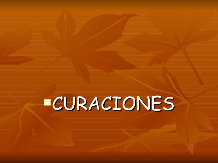 TECNICAS DE CURACION FCM