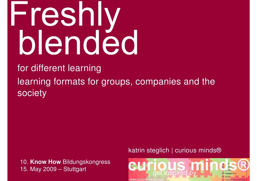 for different learning learning formats for groups, companies and the society                                     katrin s...