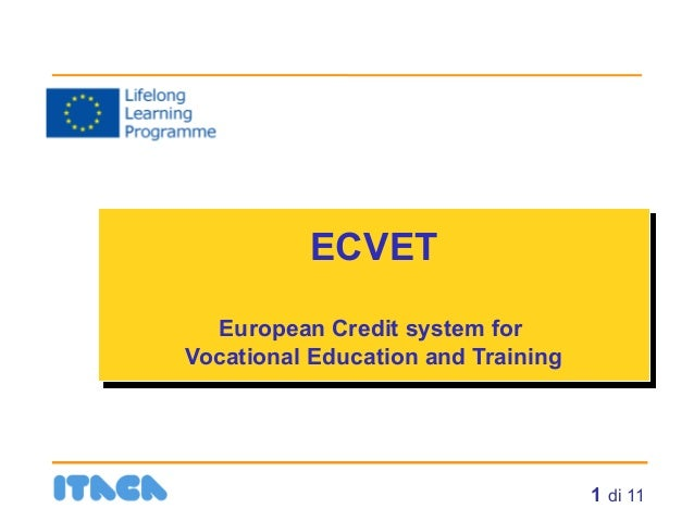 ECVET: European Credit system for Vocational Education and Training