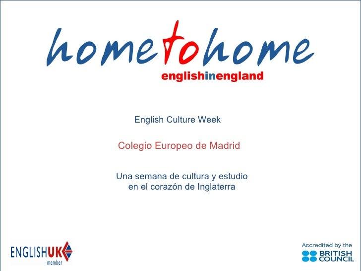 English Culture Week para 1º ESO