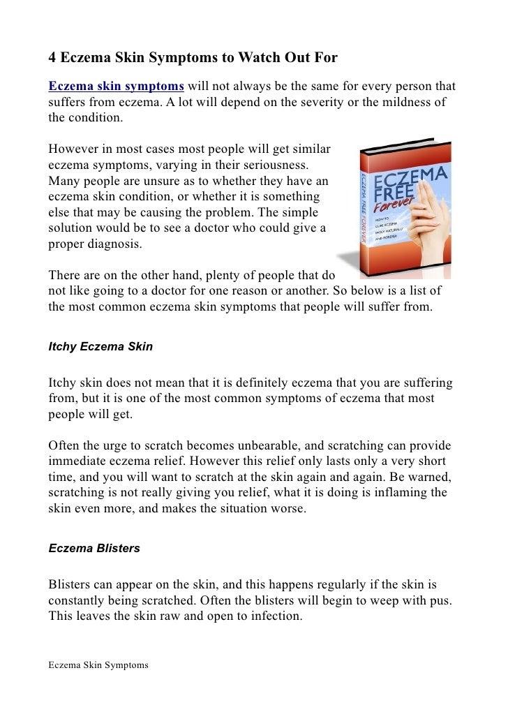 Eczema Skin Symptoms