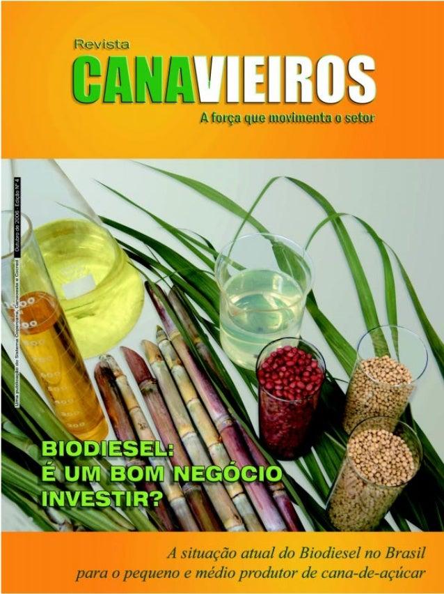 Editorial  Administrar com maestria para crescer de forma sustentável  E  m sua quarta edição, a Revista Canavieiros abord...