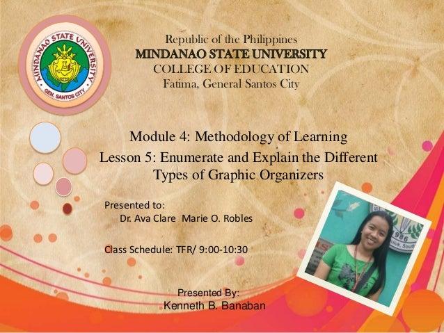Republic of the Philippines      MINDANAO STATE UNIVERSITY        COLLEGE OF EDUCATION         Fatima, General Santos City...