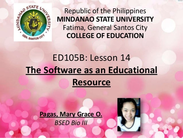 The Software as an Educational Resource