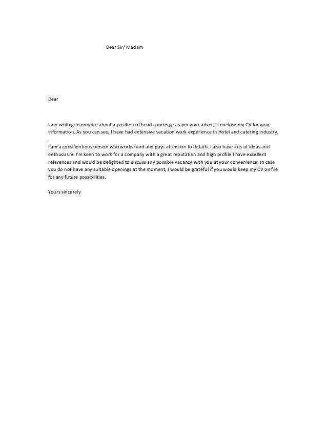 ap letter including cv