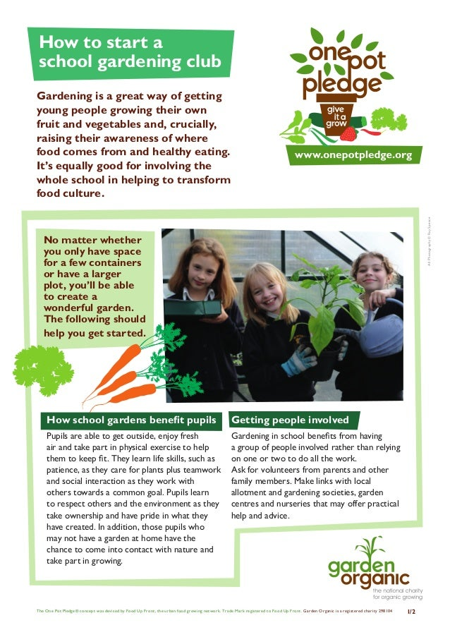 How to Start a School Gardening Club