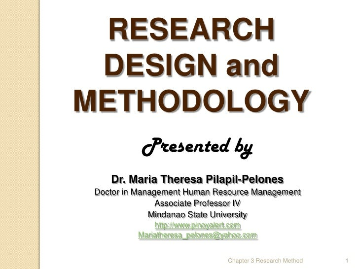 Methodology For Thesis