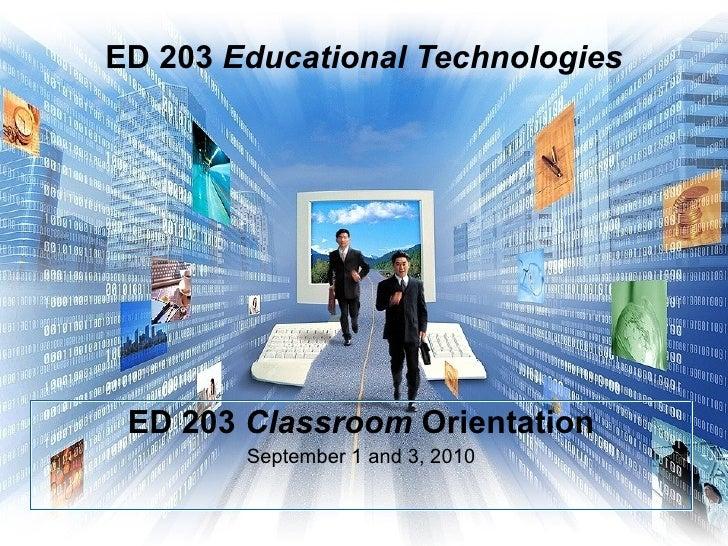 Ed 203 educational technologies pp  9 1 2010