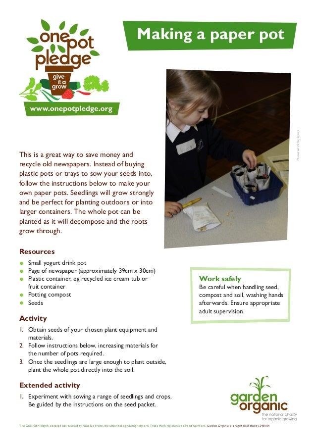 Making a Paper Pot - Teacher + Student Guide