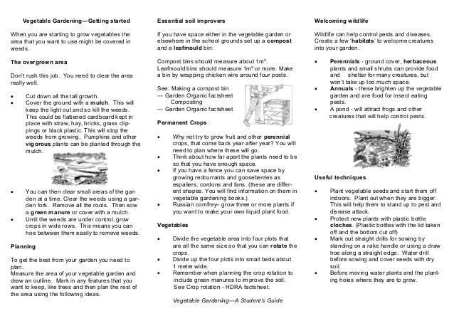 Organic Vegetable Gardening - Teacher + Student Guide