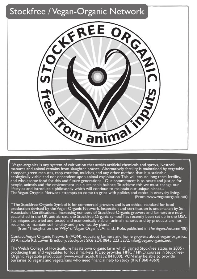 Vegan Organic Gardening Brochure