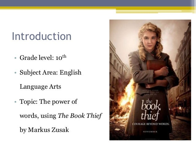 the book thief research paper In the novel the book thief by markus zusak thief their is a recurrent idea of  prejudice mostly towards the jewish the book is set in world war 2.