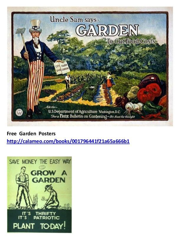 School Gardening Art Posters