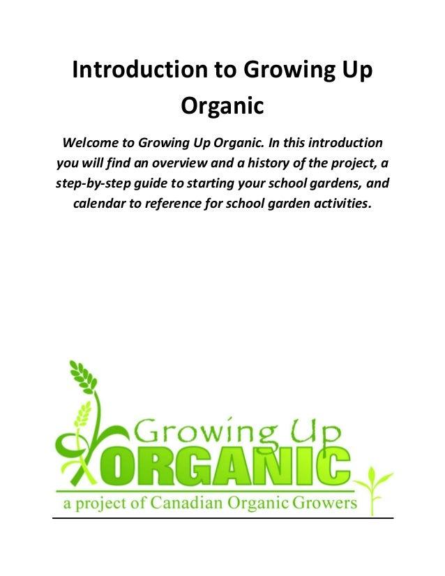 Growing Up Organic: Guide to Organic School Gardening