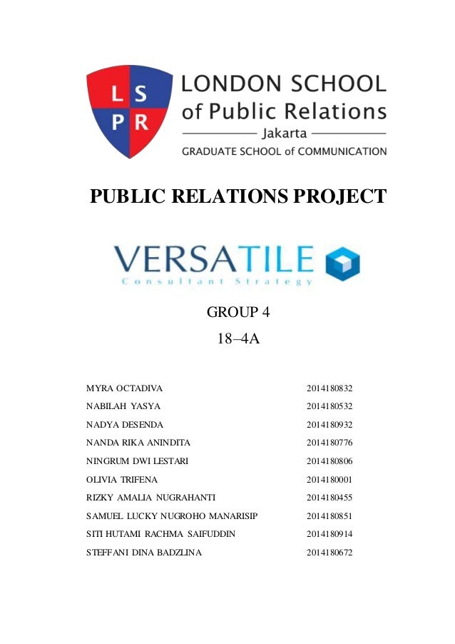 public relations roll essay Advertisements: public relations are an indirect promotional tool whose role is to establish and enhance a positive image of an organization and its services among its various publics.