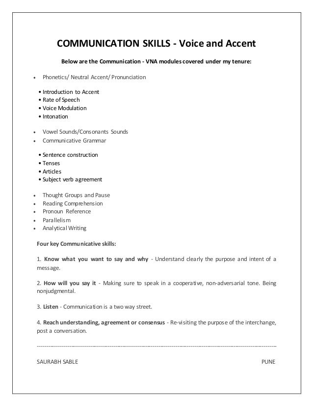Accent resume writing