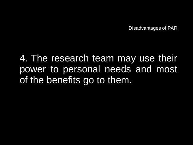 Disadvantages of action research