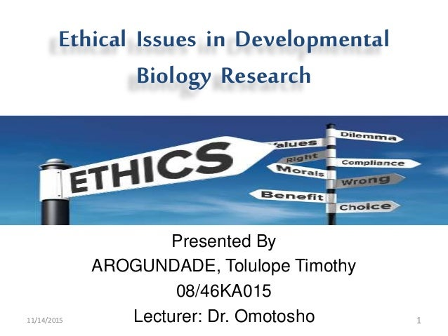 ethical issues in research The unique attributes of the brain as an organ system and its centrality to our  concept of our own humanity raise an array of ethical issues that.