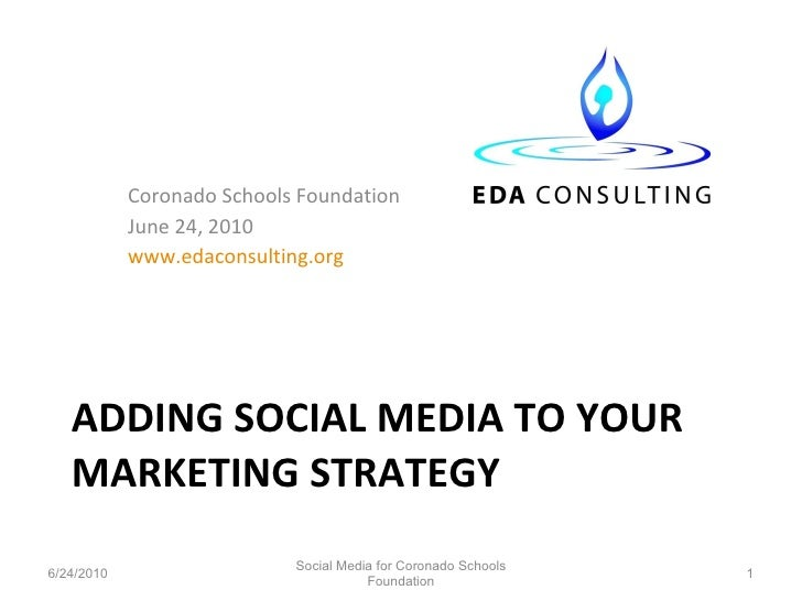 Adding Social Media to Your Marketing Strategy