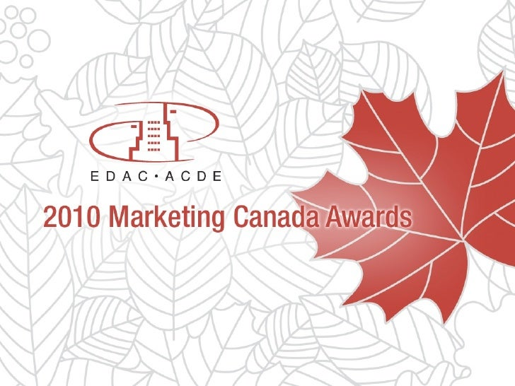 EDAC Marketing Canada Awards 2010