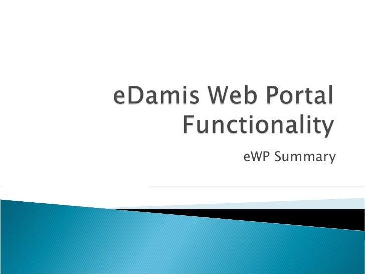 eWP Summary