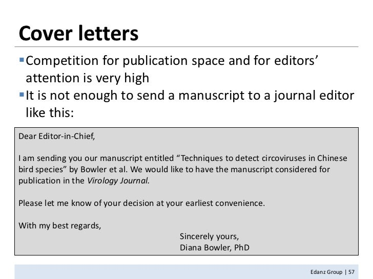 Cover letter for journal article submission example