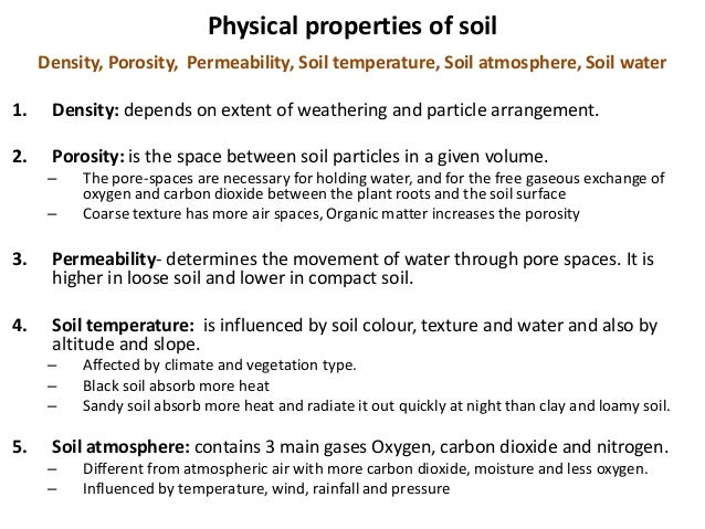 Edaphic factors soil profile structure porosity soil for Different types of soil and their characteristics