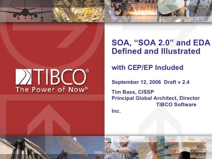 SOA, SOA 2.0 and EDA Defined and Illustrated