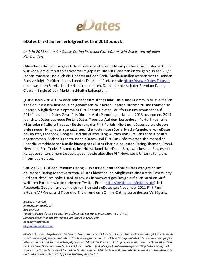 eDates blickt auf ein erfolgreiches Jahr 2013 zurück - 07-01-14