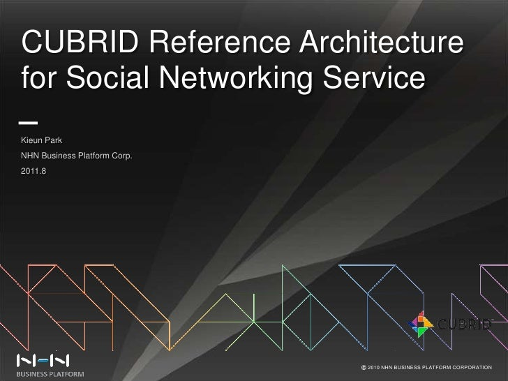 CUBRID Reference Architecture for Social Networking Service<br />Kieun Park<br />NHN Business Platform Corp.<br />2011.8<b...