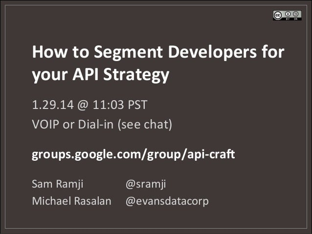 How to segment developers for your digital strategy (webcast)