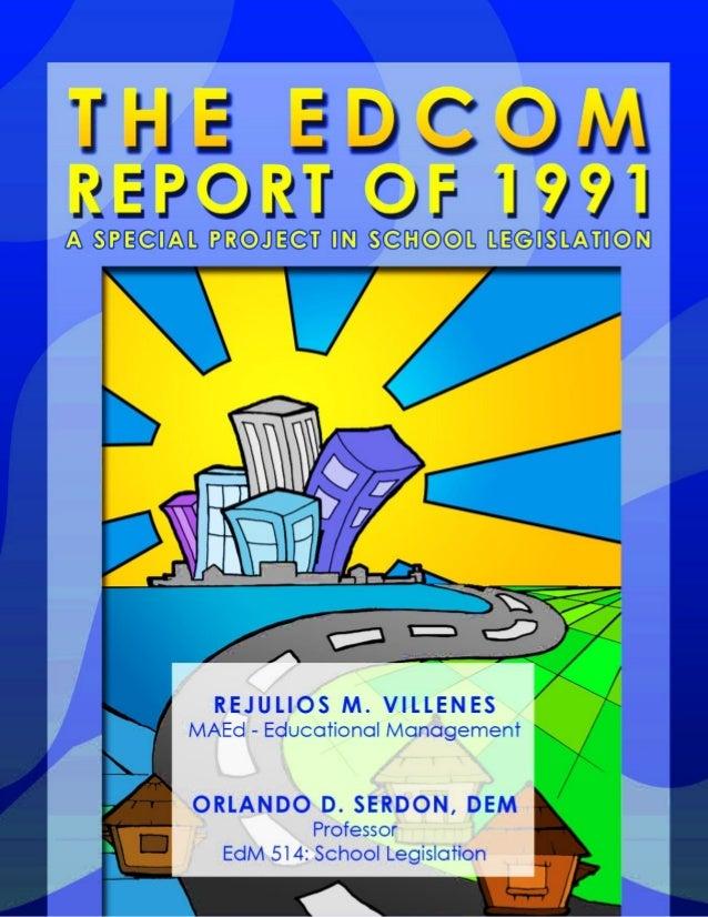 EDCOM Report of 1991