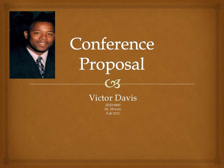 Edd conference proposal presentation 2