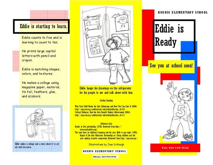 KOENIG ELEMENTARY SCHOOL     Eddie is starting to learn.                                                                  ...