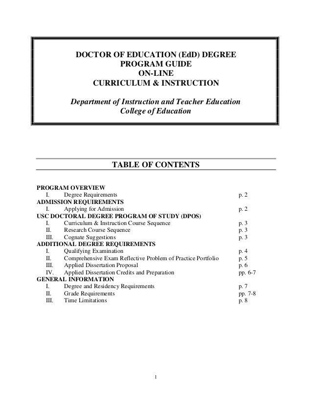 ed d dissertation topics