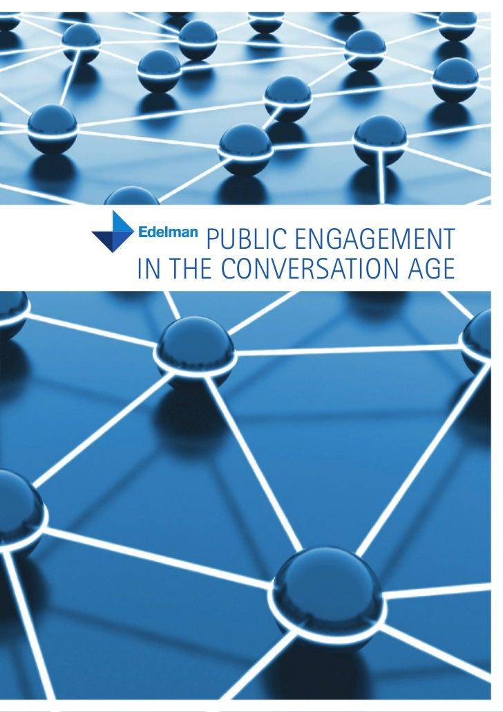 Public Engagement in the Conversation Age - 2008